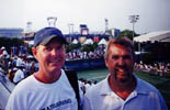 Bill Cole coaching on the ATP Pro Tennis Tour